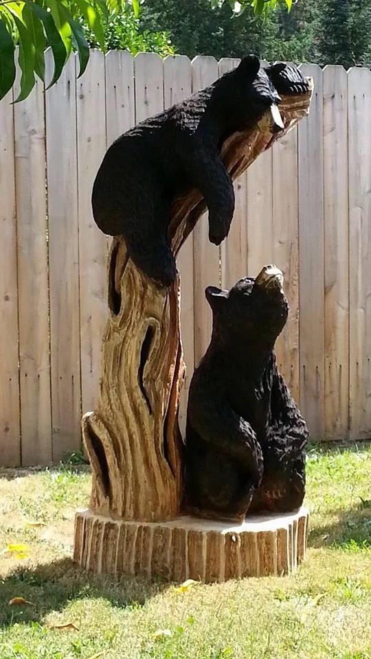 Bear Wood Carving