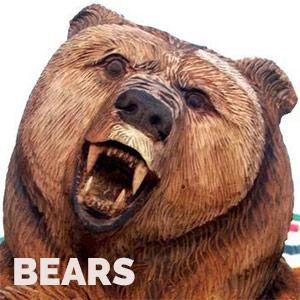 custom wood carvings of bears
